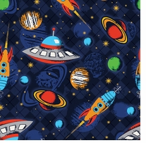 Outer Space Fleece 58/60in Wide 100% Polyester D/R