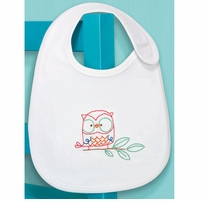 Owl Bib Embroidery Kit 7.5 x 9in 1/Pkg