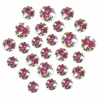 Patterned Wood Button Medley Floralmania