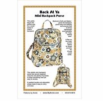 Patterns By Annie Back At Ya Mini Backpack Purse