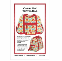 Patterns By Annie Carry On! Travel Bag