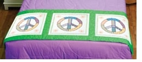 Peace Sign Quilt Blocks Stamped Cross Stitch