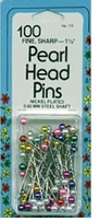 Pearl Head Pins Multi Color