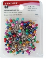 Pearlized Head Straight Pins Size 20