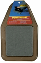 PedalSta II Sewing Machine Pedal Pad Grey Pad on Smoke Mat