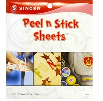 Peel N Stick Sheets 5inx5in Plus Stencil 6/Pkg