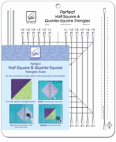 Perfect Half-Square and Quarter-Square Triangles Ruler