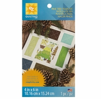 Pine Tree Template 4inx6in 1/Pkg