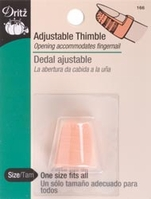 Plastic Thimble Adjustable #166 - Click to enlarge