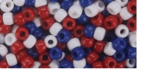 Pony Bead Value Pack Red, White, Blue