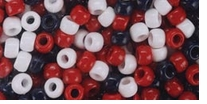 Pony Bead Value Pack Usa Red White and Blue