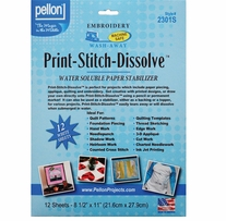 Print-Stitch-Dissolve Stabilizer For Embroidery White 8.5inX11in