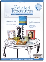 Printed Treasures Printer Fabric Sheets Peel and Stick White