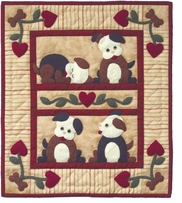 Puppy Love Wallhanging Quilt Kit