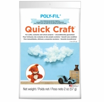 Quickcraft Fiber Fill White 2oz