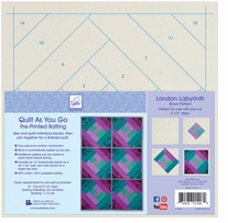 Quilt As You Go Printed Quilt Blocks On Batting London Labyrinth