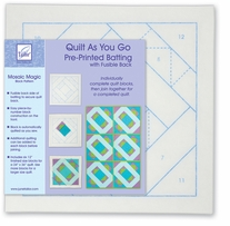 Quilt As You Go Printed Quilt Blocks On Batting Mosaic Magic