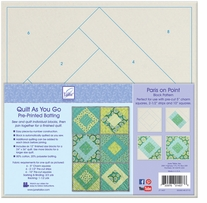 Quilt As You Go Printed Quilt Blocks On Batting Paris On Point