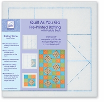 Quilt As You Go Printed Quilt Blocks On Batting Fair & Square