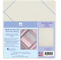 Quilt As You Go Printed Quilt Blocks On Batting Sophisticated Strips