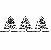 Quilt Stencils By Julie Mullin Pine Trees 5in