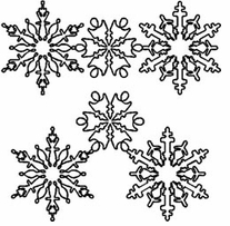 Quilt Stencils By Julie Mullin Snowflakes 7in and 10in