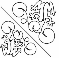 Quilt Stencils By Patricia Ritter Double Frog 6in and 7-1/4in