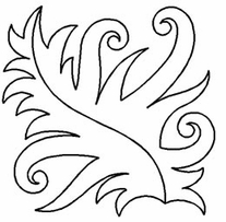 Quilt Stencils By Patricia Ritter Fancy Leaf 9in