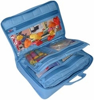 Quilted Cotton Large Organizer Aqua - Click to enlarge
