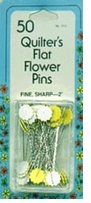 Quilter's Flat Flower Pins 2in