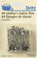 Quilter's Safety Pins Size 3 Nickel