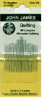 Quilting, Betweens Hand Needles Size 3/9
