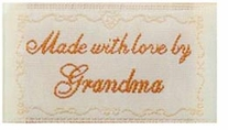 Quilting Labels Iron-On Lovelabels Made With Love By Grandma
