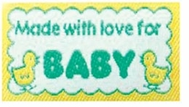 Quilting Labels Iron-On Lovelabels Made With Love For Baby