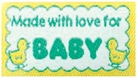 Quilting Labels Iron-On Lovelabels Made With Love For Baby - Click to enlarge
