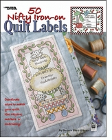 Quilting Labels Leisure Arts 50 Nifty Iron-On Quilt Labels