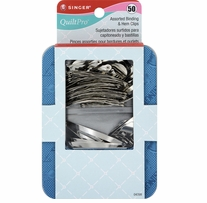 QuiltPro Assorted Binding & Hem Clips 50/Pkg