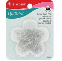 QuiltPro Curved Safety Pins 60/Pkg