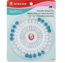 QuiltPro Decorative Straight Pins 30/Pkg