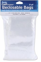 Reclosable Clear Storage Bags 3inX4in