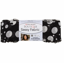 Red Heart Boutique Sassy Fabric Yarn Black Dot