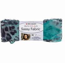 Red Heart Boutique Sassy Fabric Yarn Teal Panther