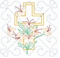 Religious Themed Stamped Quilt Blocks