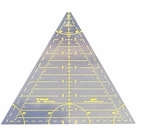 Reverse-A-Ruler Triangle 60 Degrees