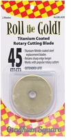 Roll The Gold! Titanium Coated Rotary Cutting Blade 45mm