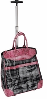 Rolling Multi-Purpose Tote Plaid