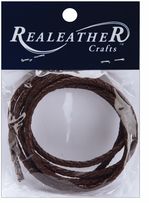 Round Braided Leather Chocolate 3mm