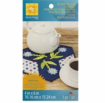 Rounded Leaf Template 4inx6in 1/Pkg
