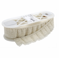 Ruffled Lace Natural 2in