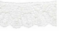 Ruffled Lace White 2-1/4in